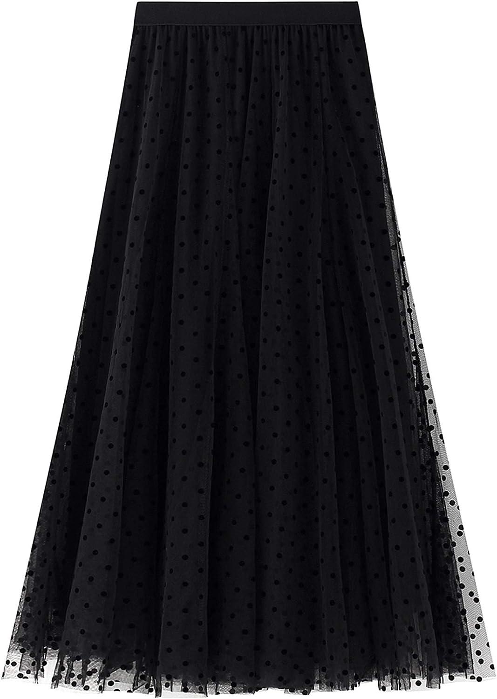 Women's Pleated Skirts High Waist Pleated A-line Swing Skirt Stylish Flared Maxi Skirts