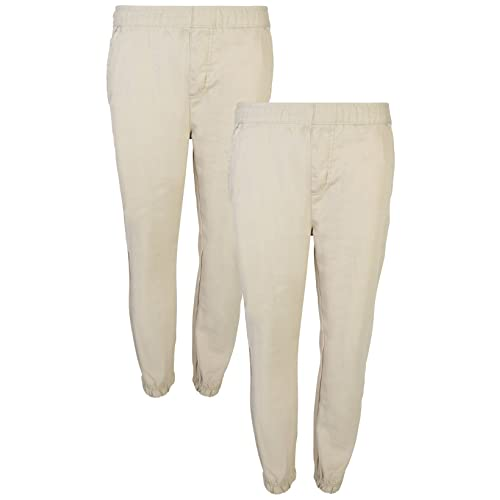 7385a3245 Beverly Hills Polo Club Boys School Uniform 2 Pack Twill Pull-On Jogger Pant