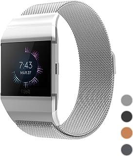 For Fitbit Ionic バンド, jansin 高品質 ステンレススチールMilanese Loopメタル交換用ストラップwith Uniqueマグネットロックアクセサリーfor Fitbit Ionic (Small, シルバー)