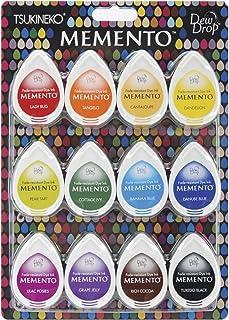 Tsukineko Memento Dew Drop Dye Ink Pads 12/Pkg Gum Drops