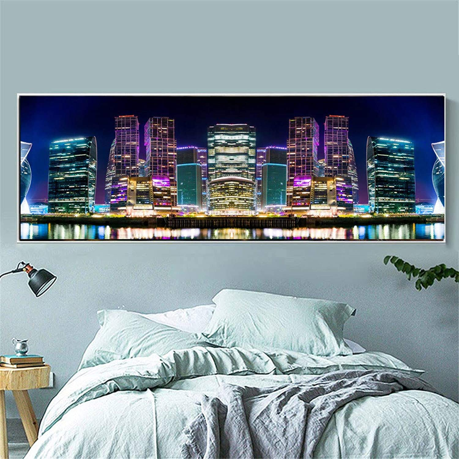 Large Full Drill 5D DIY Diamond Painting Russia City Night View Embroidery Mosaic Picture by Numbers,50X150cm