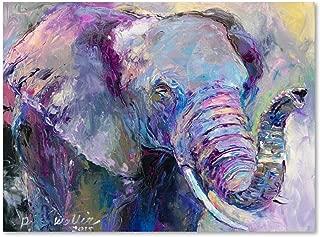 Blue Elephant by Richard Wallich, 24x32-Inch Canvas Wall Art