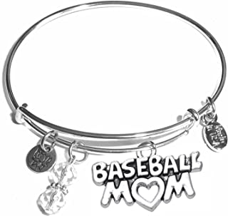 Message Charm (84 Options) Expandable Wire Bangle Bracelet, in the popular style, COMES IN A GIFT BOX!