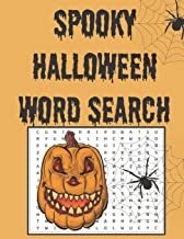 Spooky Halloween word search: Happy Halloween Learning, A Scary Fun Workbook, Large Print Challenging Puzzles About Hallow...