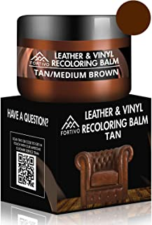 FORTIVO Brown Leather Repair Kits for Couches - Leather Color Restorer for Furniture, Car Seats, Furniture - Leather Recol...