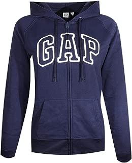 Womens Fleece Arch Logo Full Zip Hoodie