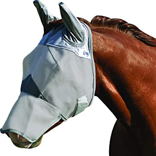 Crusader Fly Mask Long Nose with Ears, CFMHLE, Grey, Horse