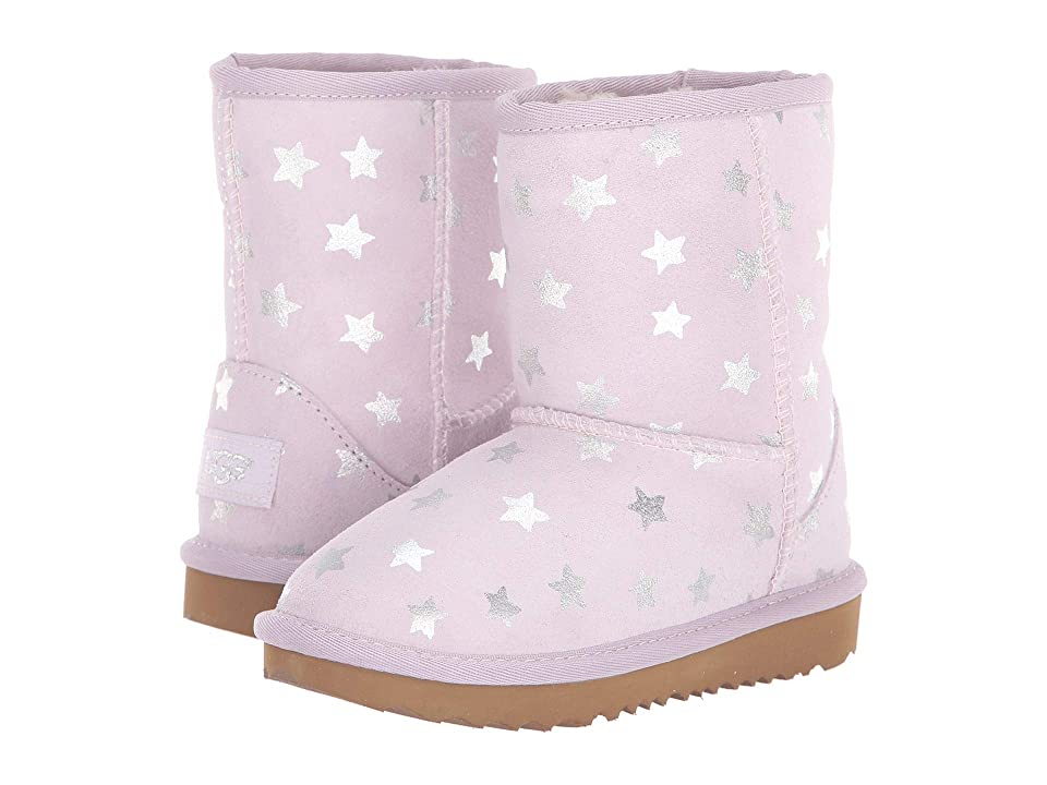 UGG Kids Classic Short II Stars (Toddler/Little Kid) (Lilac) Girls Shoes