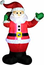 Joiedomi Inflatable Santa Claus LED Light Up Giant Christmas Xmas Inflatable Santa Claus Carry Gift Bag for Blow Up Yard Decoration, Indoor Outdoor Garden Christmas Decoration