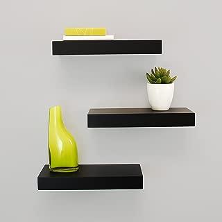kieragrace Modern Floating-Shelves, Pack of 3, Black