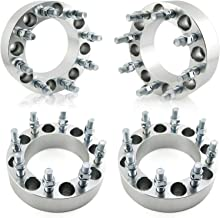 OrionMotorTech 8x6.5 Wheel Spacers 2 inches with 9/16-18 Studs for 1994-2011 Dodge Ram 2500 3500, 1988-1998 Ford F-250 F-350, 4pcs
