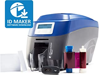 ID Maker Edge Professional ID Card Printer - Prints Premium Quality Pictures Fast & Easy – 1-Sided Badge Printer Machine with Magnetic Stripe Encoding