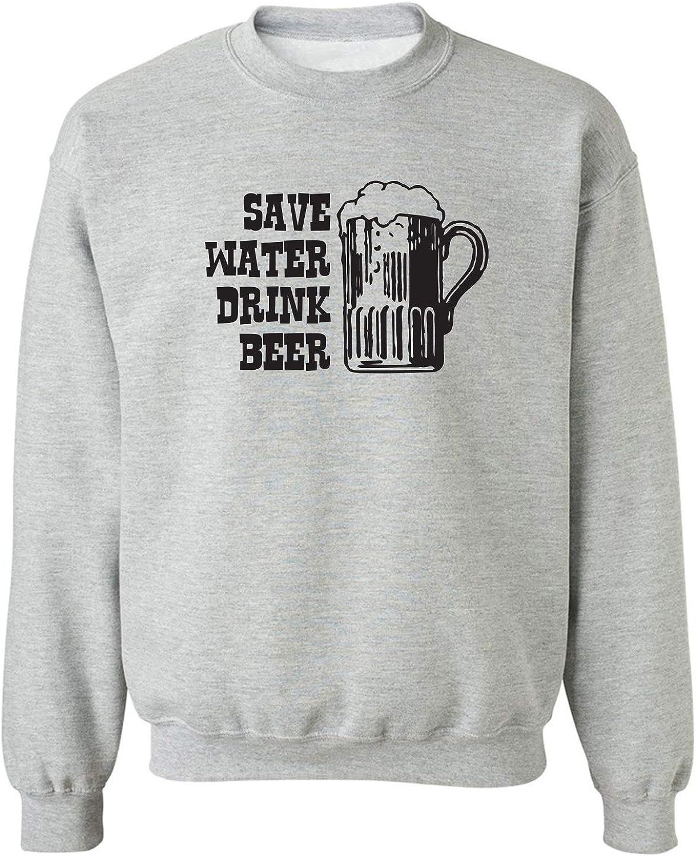 zerogravitee Save Water Drink Beer Crewneck Sweatshirt