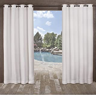 Exclusive Home Curtains Delano Grommet Top Panel Pair, Winter White, 54x96, 2 Piece