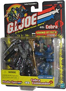 Snake Eyes vs. Cobra Commander - G.I. Joe vs Cobra Action Figure