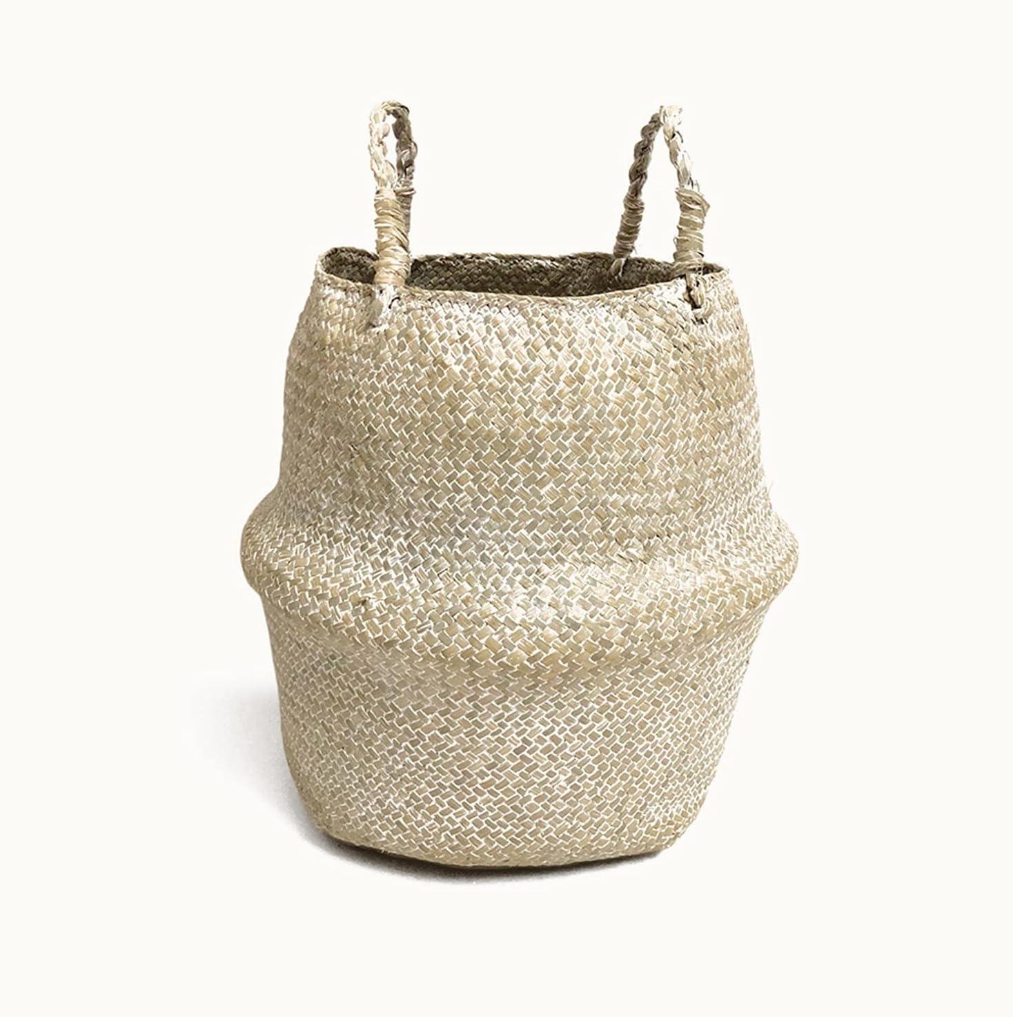 DMYONGLIAN Storage Washington Mall Basket Hand Seaweed Made 2021 model Flower