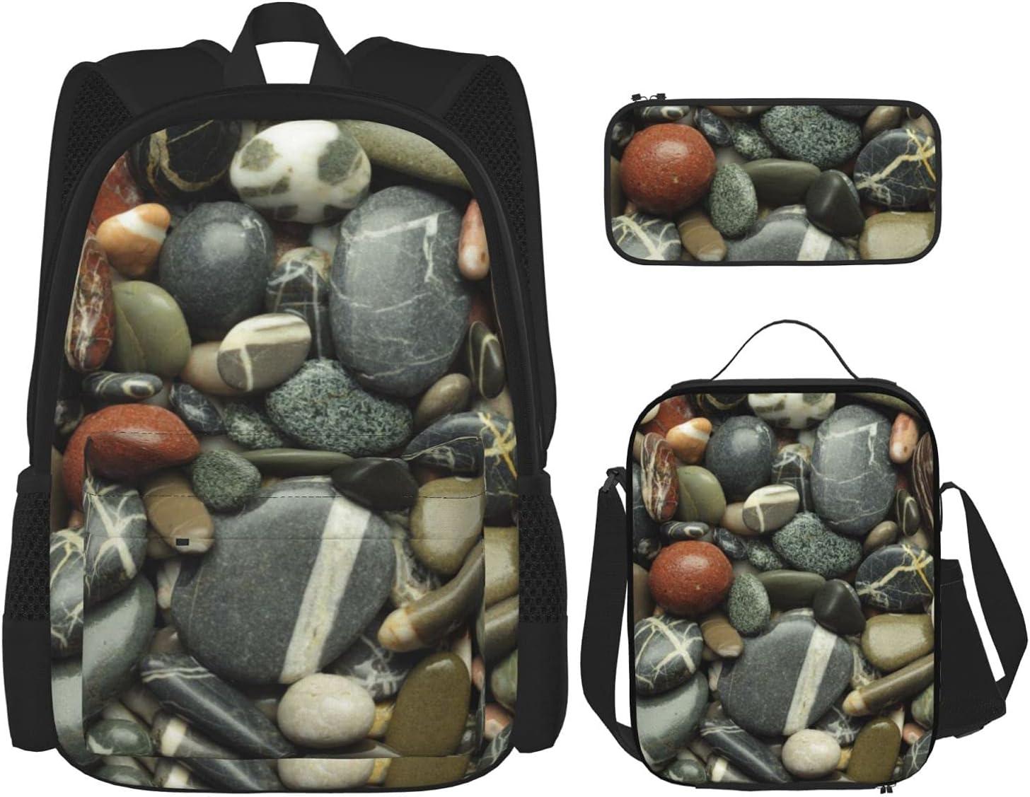 Award supreme Teens 3D Print Lightweight Durable Insulated Shoulder Bookbags L