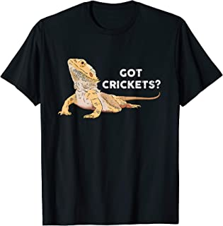Bearded Dragon, Funny Lizard, Reptile Lover, Got Crickets T-Shirt