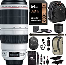 Canon EF 100-400mm f/4.5-5.6L is II USM Lens + Lexar 64GB U3 Memory Card + VidPro USB Reader/Writer + 62