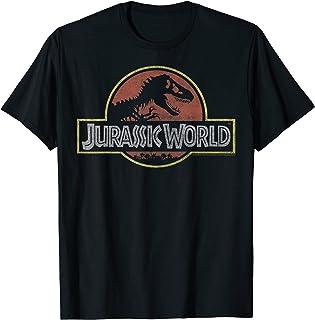 Jurassic World Classic Retro T-Rex Logo Camiseta