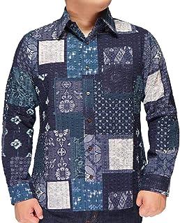 衣櫻 ころもざくら レギュラーシャツ 和柄 長袖シャツ 日本製 鬼リップル素材 メンズ NEW BORO OHSHIMA SA-1355
