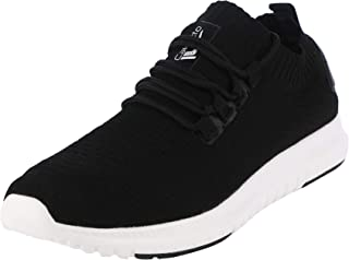 calcetto Latest Collection for Mens Black Synthetic Sports Shoes