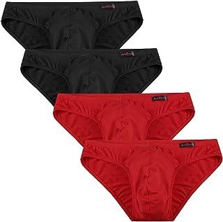 Avidlove Underwear Low Rise Men's Modal Microfiber Briefs Pack of 4