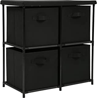 Homebi 4-Drawer Storage Chest Shelf Unit Storage Cabinet Multi-Bin Organizer with Removable Non-Woven Fabric Bins,25
