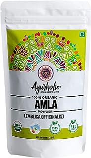 Ayurholic Organic Amla Powder for Hair - Growth Pack for Black Hair - USDA certified - Food Grade - 100 grams