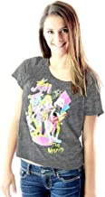 Jem and the Holograms The Misfits Juniors Charcoal T-Shirt (Juniors Large)