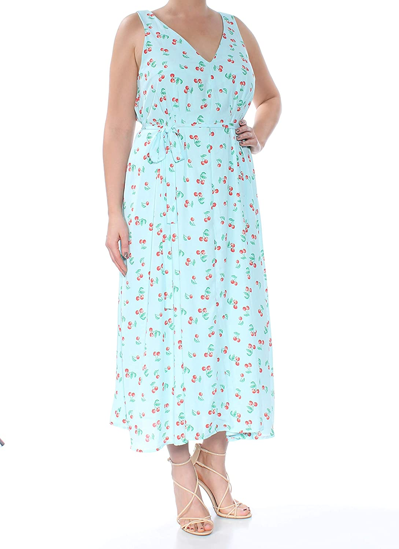 Maison Jules Womens Cherry Pickin' Midi Dress