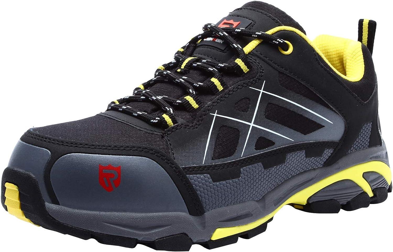 LARNMERN Sicherheitsschuhe Arbeitsschuhe Herren, Sicherheit Stahlkappe Stahlsohle Anti-Perforations Luftdurchlssige Schuhe