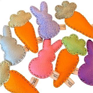 Catnip Cat Toy - Bunny & Carrot - Organic Catnip/Wool Felt/Set of 2