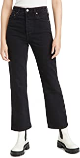 TRAVE Women's Gia Crop Straight Jeans