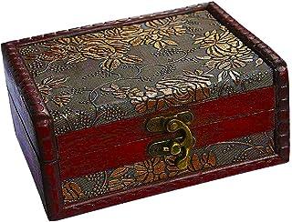 Haudang Coffre au trésor pour boîte cadeau, collection de cartes, cadeaux et décoration d'intérieur.
