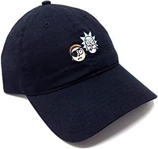 6363cd1e9913b RICK AND MORTY Adult Swim Evil Rick   Morty Embroidered Adjustable Dad Hat