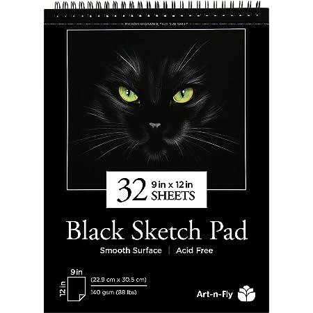 Canson XL Schwarz  Zeichenblock DIN A4 40 Blatt schwarz für Skizzen,zweiseitig
