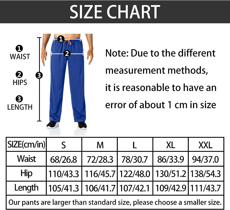 para entrenamiento Butrends Pantalones de ch/ándal largos para hombre fitness con bolsillos con cremallera secado r/ápido