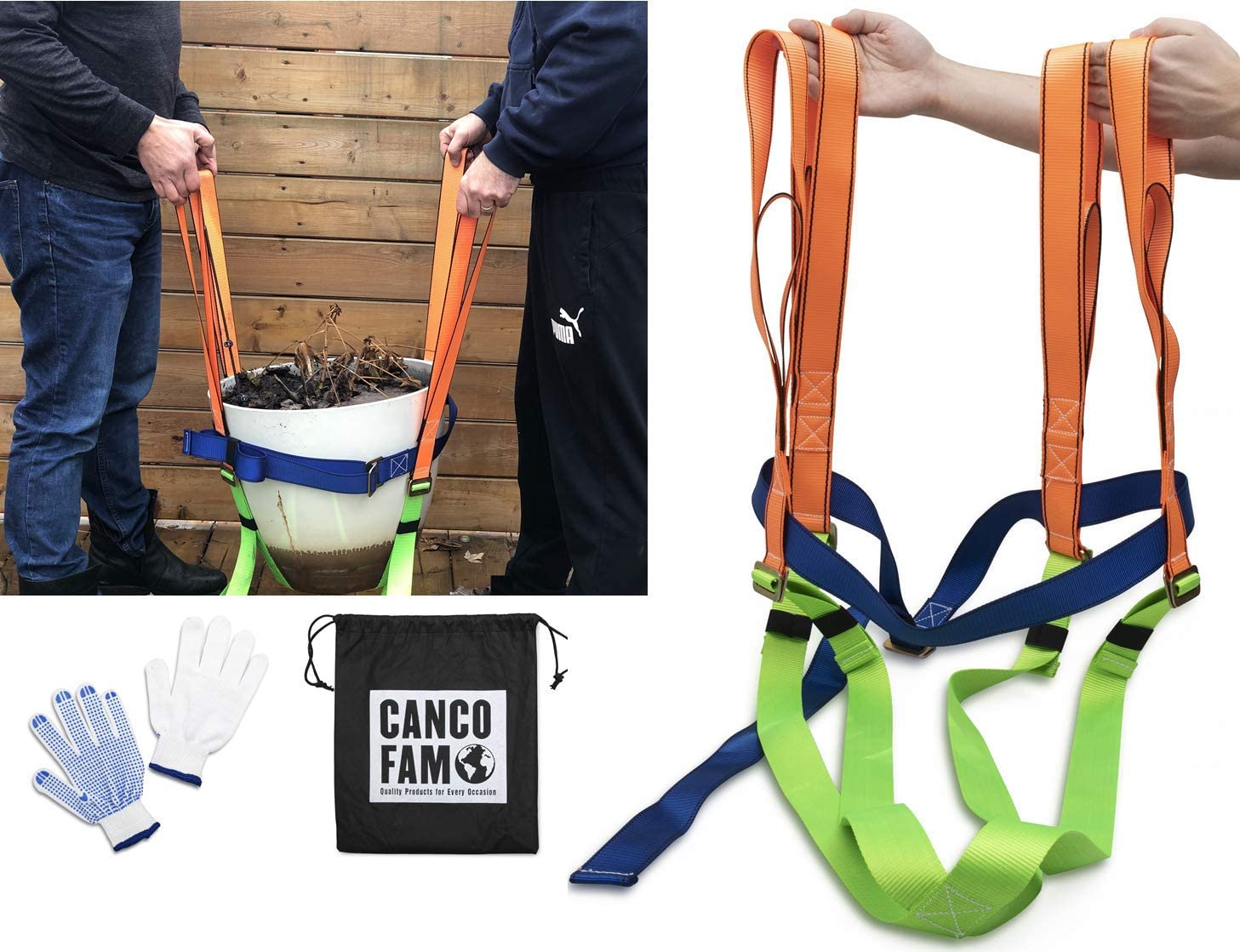 CancoFam Plant Pot Mover – Garden New product! New type 55% OFF - 2 Dolly Tool Person Lifting