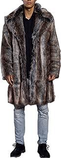 Men's Luxury Faux Fur Coat Jacket Winter Warm Long Coats Overwear Outwear
