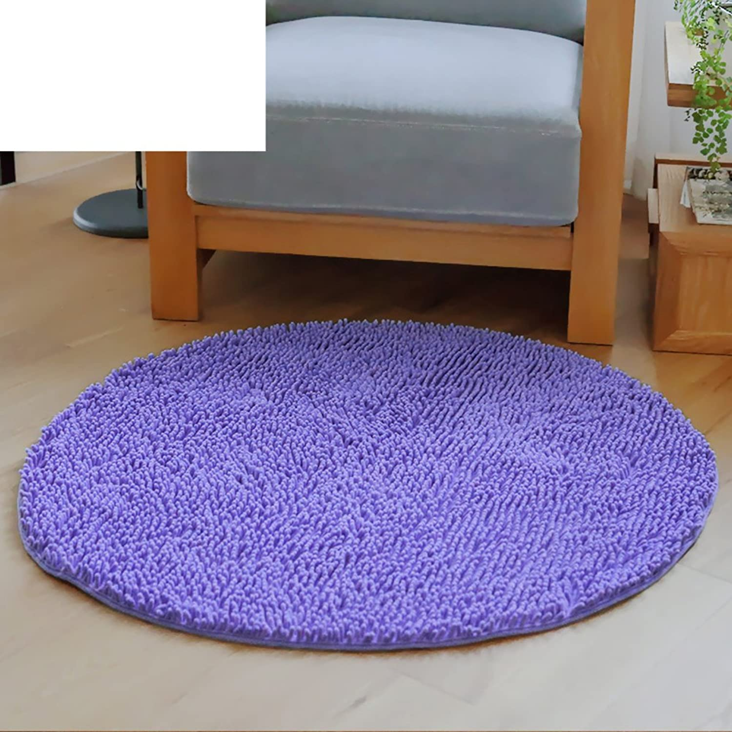 Round Computer Chair Foot mat Bedroom Living Room Door Anti-Skid mats mat Cushion-H diameter100cm(39inch)