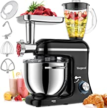 Vospeed 3 IN 1 Stand Mixer 850W Tilt-Head Multifunctional Electric Mixer with 7.5 QT Stainless Steel Bowl, Beater, Hook, W...