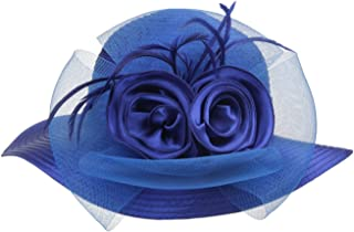 Lady's Kentucky Derby Dress Church Cloche Hat Bow Bucket Wedding Bowler Hats
