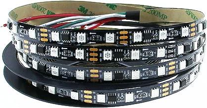 Aclorol WS2811 Addressable LED Strip 5050 RGB 5m 300LEDs Flexible Rope Light Dream Color Non-Waterproof Black PCBDC 12V