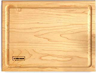 Maple Wood Cutting Board for Kitchen 14x10 | Hardwood Kitchen Board Serving as a Wooden Block for Your Kitchen