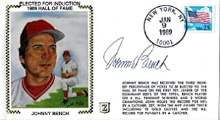JOHNNY BENCH Autographed Ziebart First Day Cover (JSA)