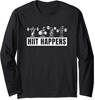Cardio Workout - Hiit Happens Long Sleeve T-Shirt