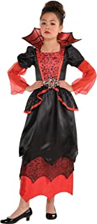AMSCAN Vampire Halloween Costume for Girls, Medium, with Included Accessories