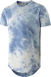 Mens Hip Hop Tie-Dyed Hipster T Shirt