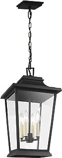 Feiss OL15409TXB Warren StoneStrong Outdoor Pendant Ceiling, 4-Light 240 Watts (22